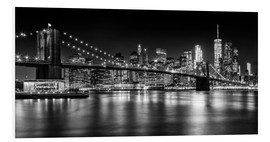 Forex  Night Skylines NEW YORK II black and white - Melanie Viola
