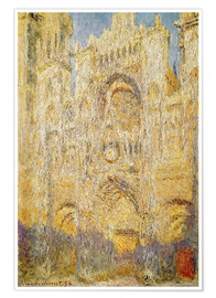 Poster Premium Rouen Cathedral, at noon