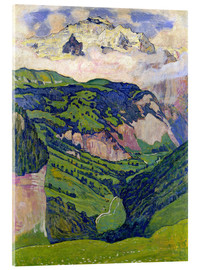 Stampa su vetro acrilico  Jungfrau mountain, seen from Isenfluh - Ferdinand Hodler