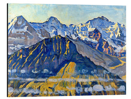 Alluminio Dibond  Eiger, Mönch and Jungfrau in the sun - Ferdinand Hodler