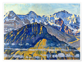 Poster  Eiger, Mönch and Jungfrau in the sun - Ferdinand Hodler