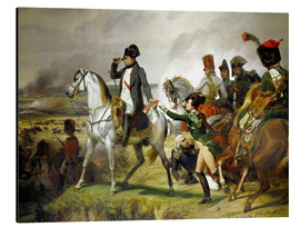 Stampa su alluminio  Napoleon Bonaparte, Battle of Wagram 06 July 1809th - Emile Jean Horace Vernet