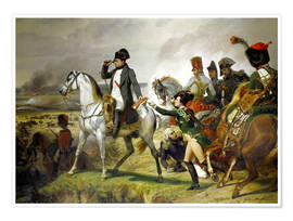 Poster Premium  Napoleon Bonaparte, Battle of Wagram 06 July 1809th - Emile Jean Horace Vernet