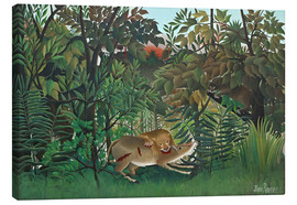 Stampa su tela  The hungry lion - Henri Rousseau