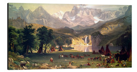 Alluminio Dibond  Indian camp in the Rockies - Albert Bierstadt