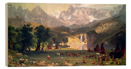 Stampa su legno  Indian camp in the Rockies - Albert Bierstadt