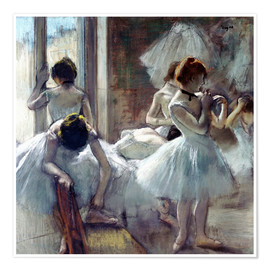 Poster  dancers Group - Edgar Degas