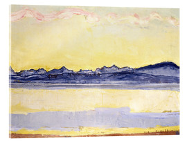 Stampa su vetro acrilico  Mont Blanc with red clouds - Ferdinand Hodler