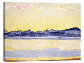 Stampa su tela  Mont Blanc with red clouds - Ferdinand Hodler