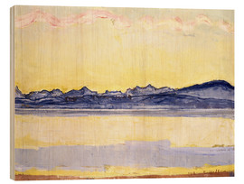 Stampa su legno  Mont Blanc with red clouds - Ferdinand Hodler
