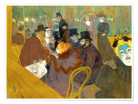 Poster Premium  At the cabaret - Henri de Toulouse-Lautrec
