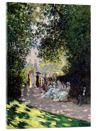 Vetro acrilico  In the Park Monceau - Claude Monet