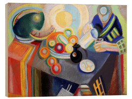 Stampa su legno  Portuguese Woman pouring something - Robert Delaunay