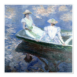 Poster Premium  girls in a boat - Claude Monet