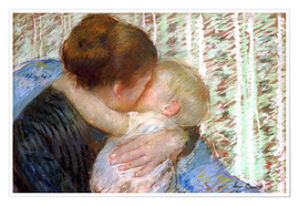 Poster  The Goodnight Kiss - Mary Stevenson Cassatt