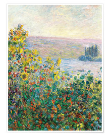 Poster  Flower Beds at Vetheuil - Claude Monet