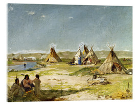 Stampa su vetro acrilico  Camp of the Indians in Wyoming - Frank Buchser