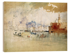 Stampa su legno  Venice, seen from the lagoon - Joseph Mallord William Turner