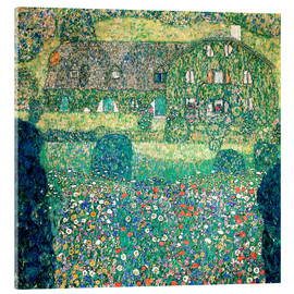 Stampa su vetro acrilico  Country house on Attersee lake - Gustav Klimt