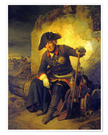 Poster Premium Friedrich II. After the battle of Kolin