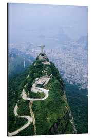 Alluminio Dibond  Corcovado Mountain with Christ the Redeemer Statue - Sue Cunningham