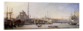 Vetro acrilico  The Golden Horn, Suleymaniye Mosque and Fatih Mosque - Antoine Léon Morel-Fatio
