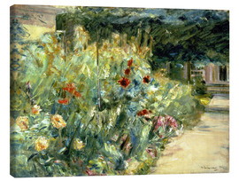 Stampa su tela  Flower Garden in Giverny at the Wannsee - Max Liebermann