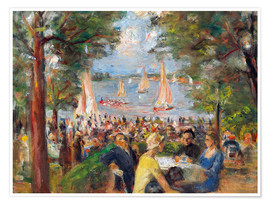 Poster Premium Beer garden on the Havel river