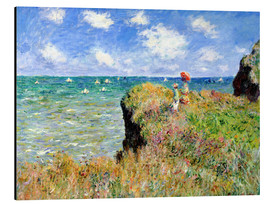 Stampa su alluminio  Clifftop Walk at Pourville - Claude Monet
