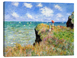 Tela  Clifftop Walk at Pourville - Claude Monet