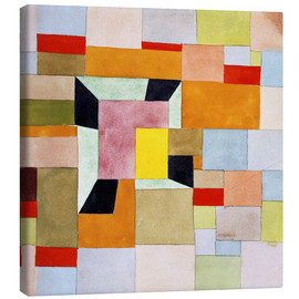 Stampa su tela  Split color squares - Paul Klee