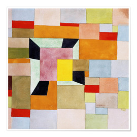 Poster  Split color squares - Paul Klee