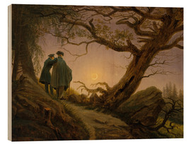 Legno  Two men contemplating the moon - Caspar David Friedrich