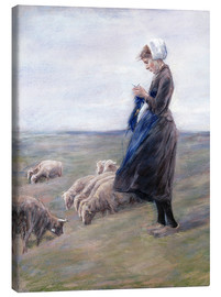 Tela  Shepherdess - Max Liebermann