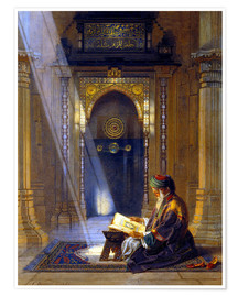 Poster Premium  In the Mosque - Carl Friedrich Heinrich Werner