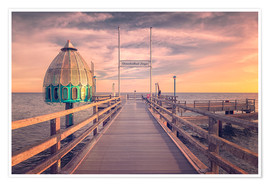 Poster Premium  Diving bell at pier Zingst (Darss/Baltic Sea) - Dirk Wiemer