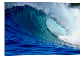 Alluminio Dibond  Big blue tropical island surfing wave - Paul Kennedy