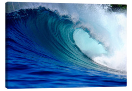 Tela  Big blue tropical island surfing wave - Paul Kennedy