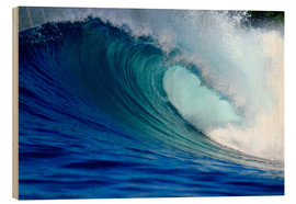 Legno  Big blue tropical island surfing wave - Paul Kennedy