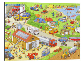 Stampa su alluminio  Cars search and find: In the countryside - Stefan Seidel
