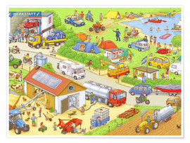 Poster Premium  Cars search and find: In the countryside - Stefan Seidel