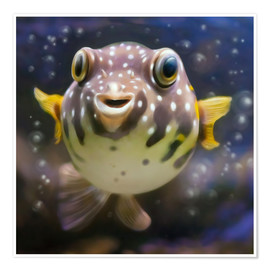 Poster Premium  fugu the bowlfish - Photoplace Creative