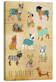 Stampa su tela  be different dogs - GreenNest