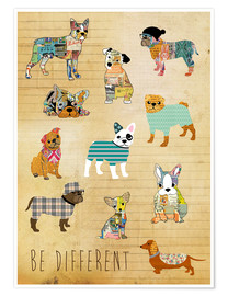 Poster Premium  be different dogs - GreenNest