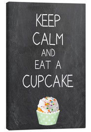 Tela  Keep calm and eat a cupcake on chalkboard - GreenNest