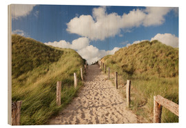Stampa su legno  Sylt, path through dunes - Markus Lange