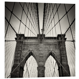 Stampa su schiuma dura  New York City - Brooklyn Bridge (Analogue Photography) - Alexander Voss
