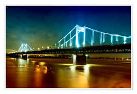 Poster Premium  Bridge over River Rhine - Daniel Heine