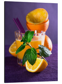 Stampa su alluminio  Orange juice in a glass - Edith Albuschat