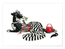 Poster Premium glamour cow 2